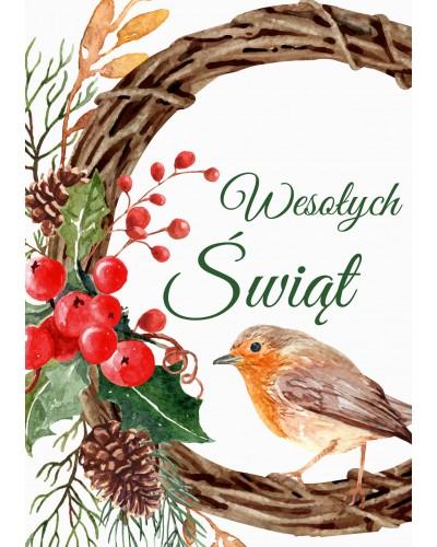 Kartka świąteczna Pastelowy Ptaszek