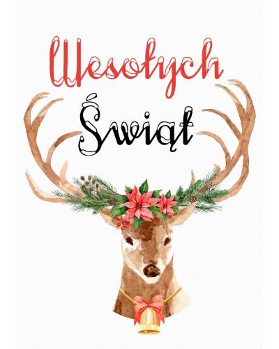 Kartka świąteczna Reindeer