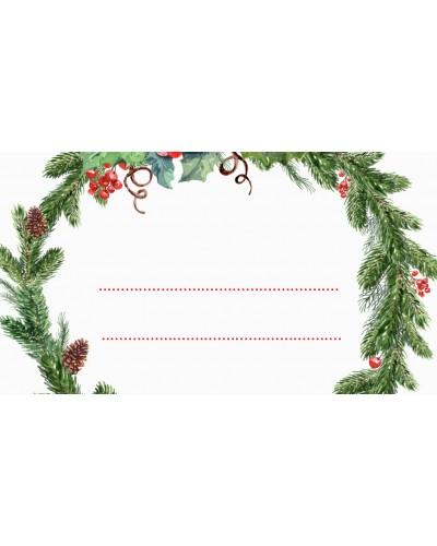 Winietki świąteczne wzór Świąteczny Wianek 10 szt.