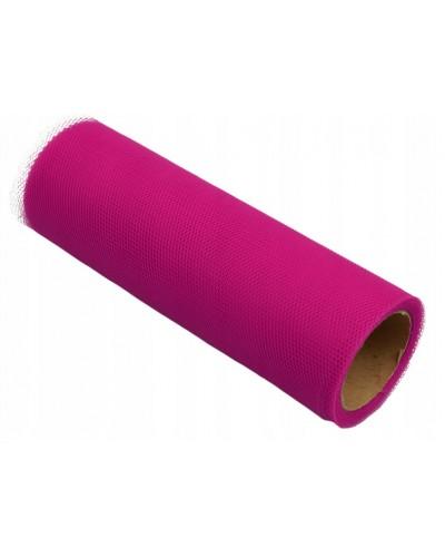 Tiul dekoracyjny 15cm różowy