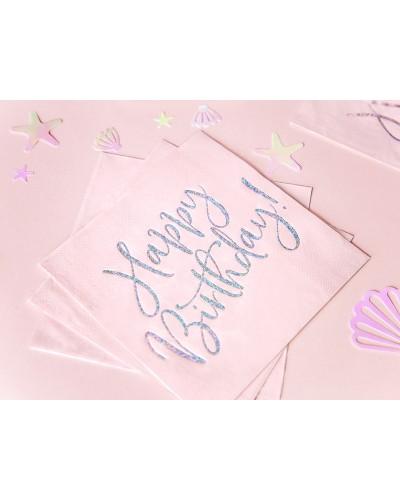 Serwetki papierowe urodzinowe j.róż napis holo