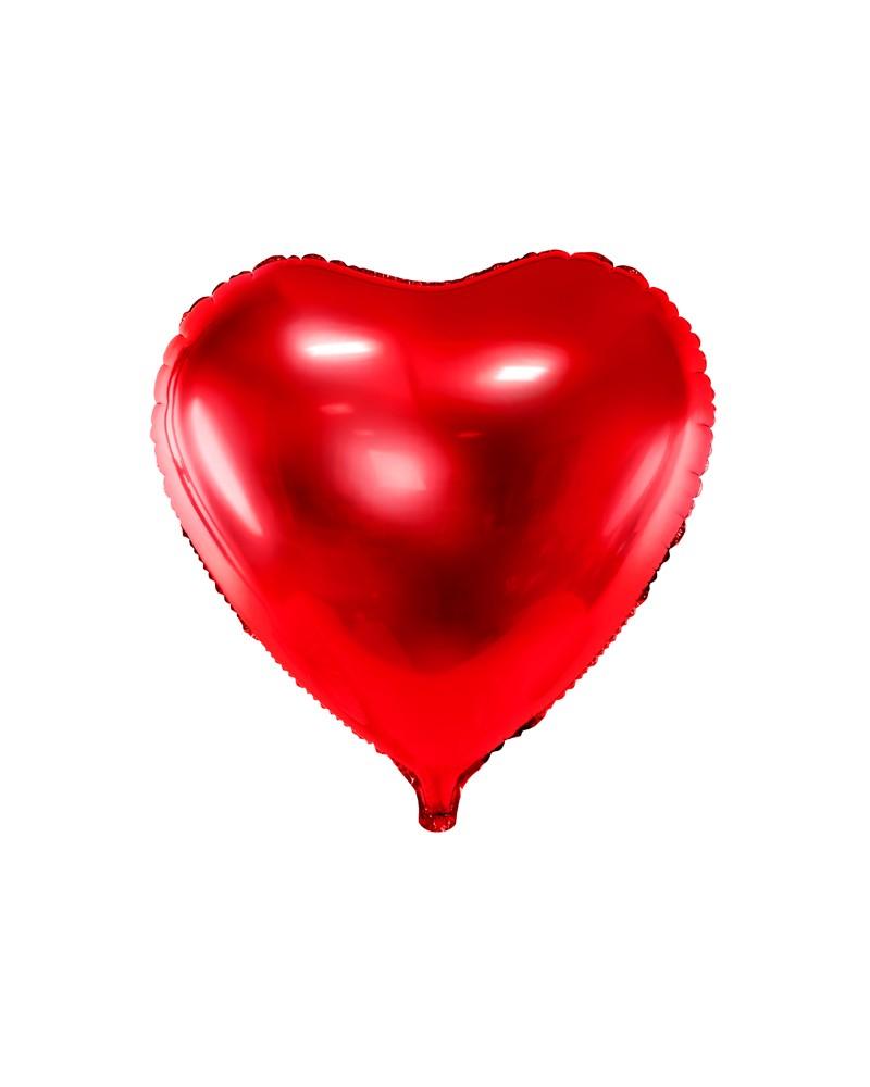 Balon foliowy Serce czerwone 60cm
