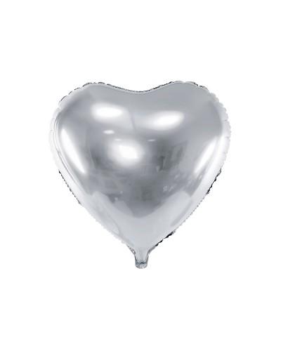 Balon foliowy Serce srebrne 60cm