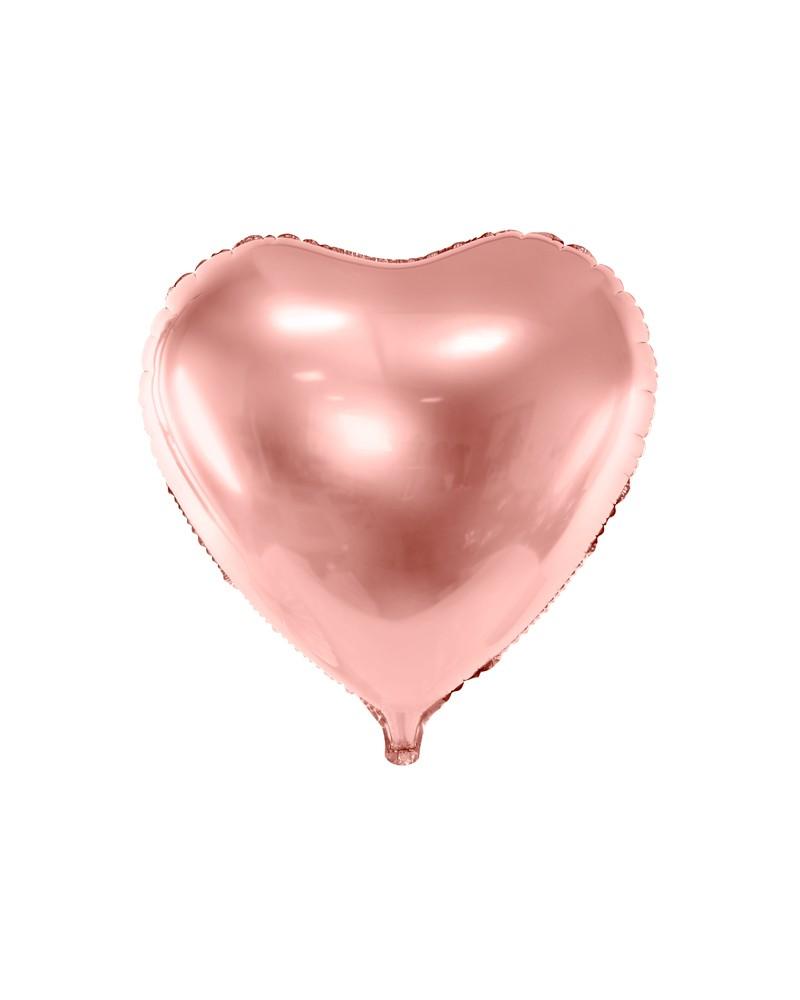 Balon foliowy Serce różowo-złote 60cm
