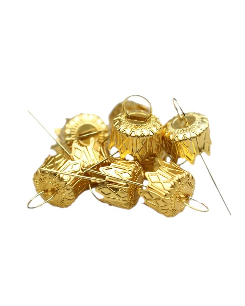 Zawieszki do bombek złote 10mm