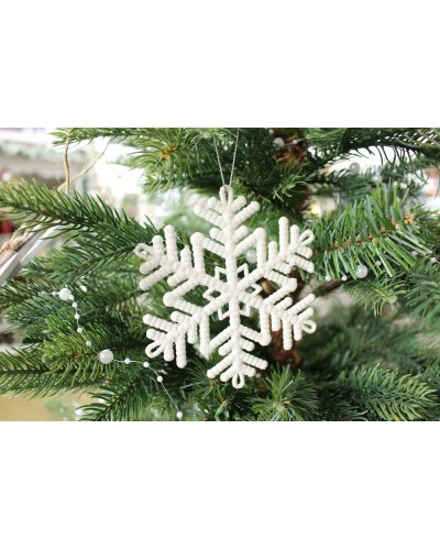 Bombka płatek śniegu, 11x11x0,5cm