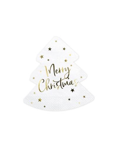 Serwetki papierowe Merry Christmas choinka