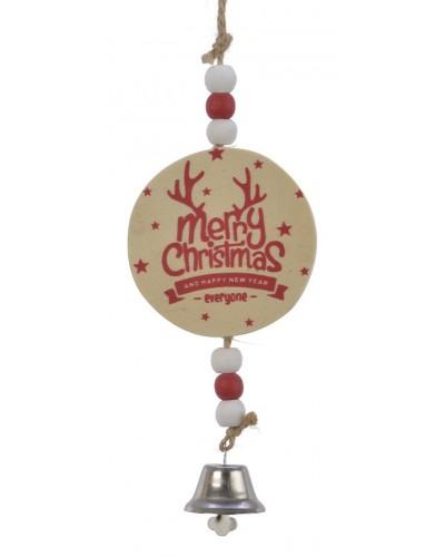 Zawieszka na choinkę Drewnaina Merry Christmas wz2