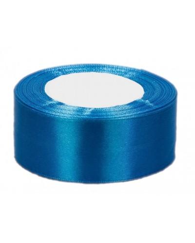 Wstążka satynowa 38mm niebieska