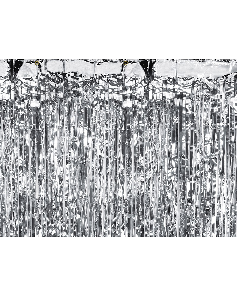 Kurtyna metalizowana srebrna / 0,9 m x 2,5