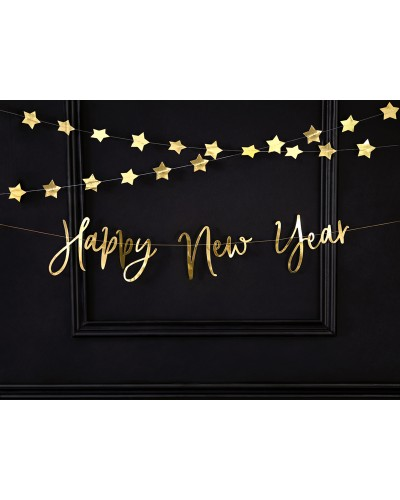 Baner na Sylwestra Happy New Year 66x18cm