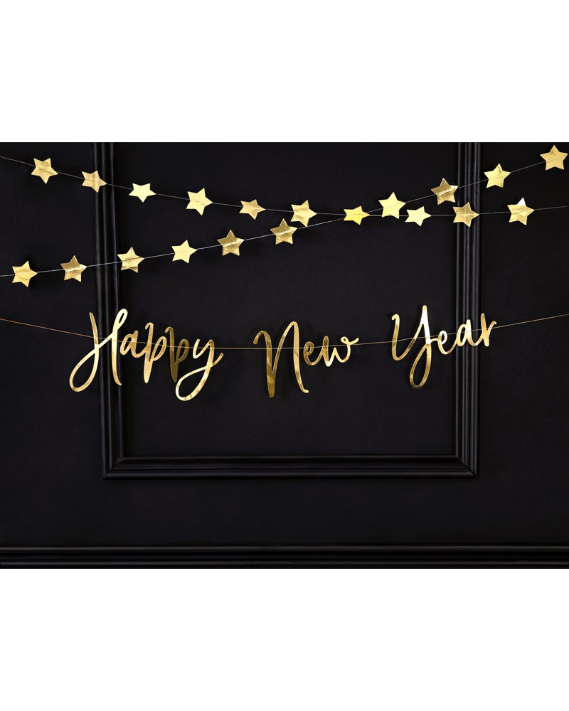 Baner na Sylwestra Happy New Year 66x18cm