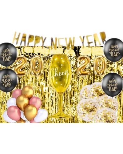 Zestaw dekoracji Sylwester 2020 Gold