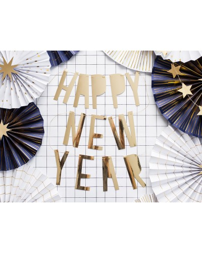Baner na Sylwestra Happy New Year 90x10cm