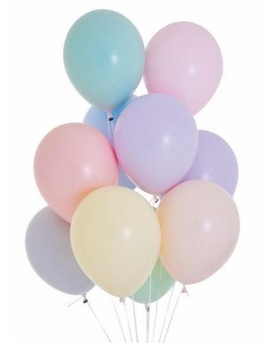Makaroniki Balony Pastelowe 10szt. Mix