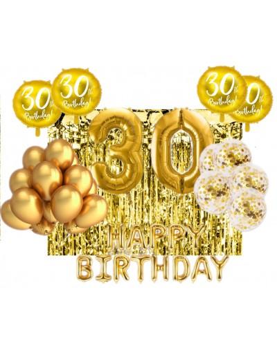 Zestaw na 30-stke Gold Balloons