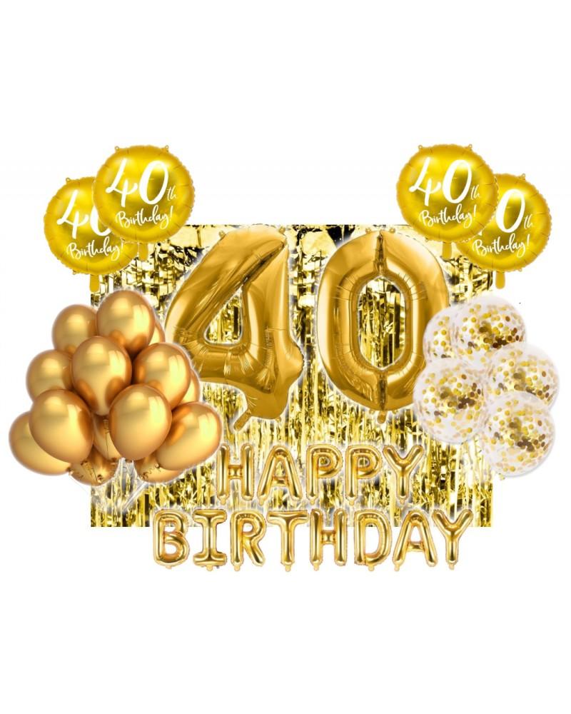 Zestaw na 40-stke Gold Balloons