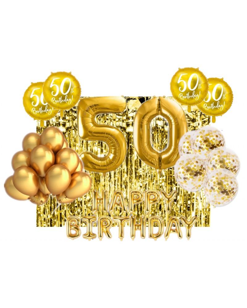 Zestaw na 50-tke Gold Balloons