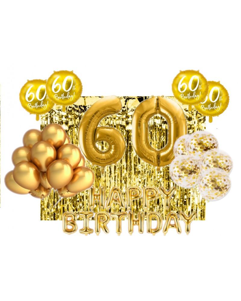 Zestaw na 60-tke Gold Balloons