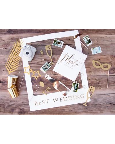 Zestaw gadżetów do zdjęć z ramką selfie Wedding