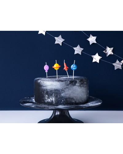 Świeczki urodzinowe pikery kolekcja Kosmos