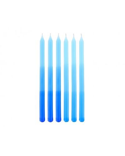 Świeczki urodzinowe Ombre niebieskie