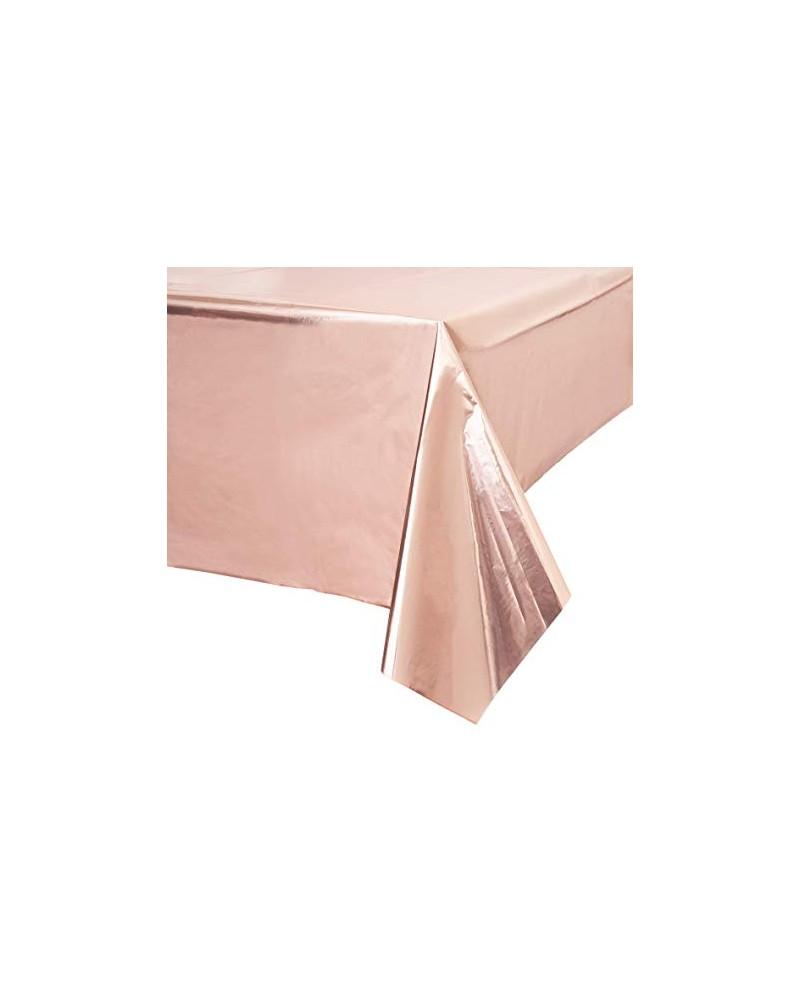 Obrus foliowy różowo-złoty