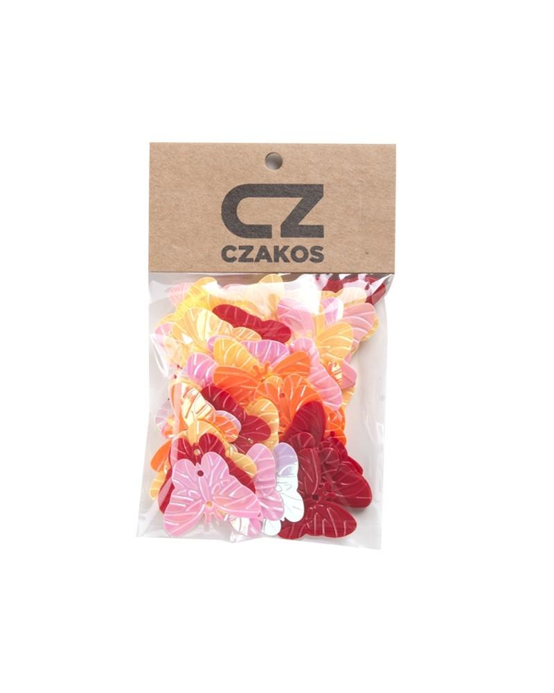 Cekiny motyle Różnokolorowe 23mm