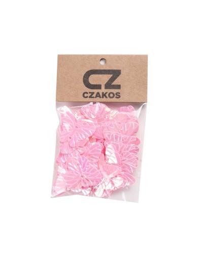 Cekiny motyle Różowe 23mm