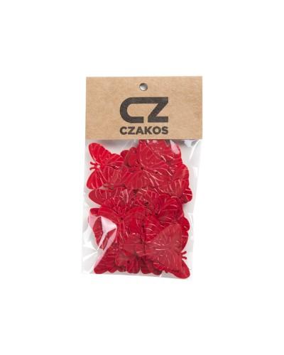 Cekiny motyle Czerwone 23mm
