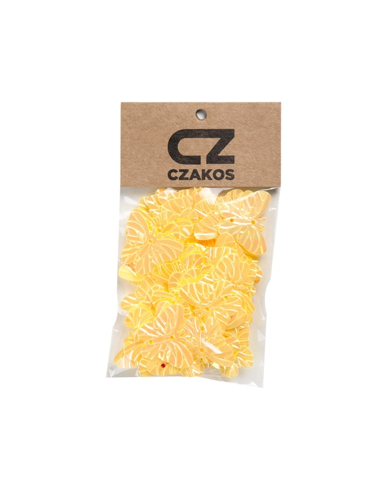 Cekiny motyle Żółte 23mm