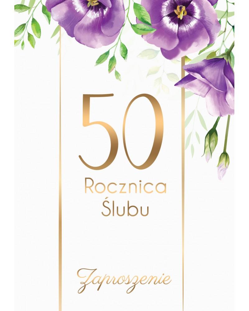 Zaproszenie na rocznicę ślubu - Fiołkowe Gody