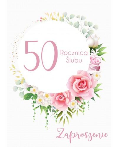 Zaproszenie na rocznicę ślubu - Flower Rain