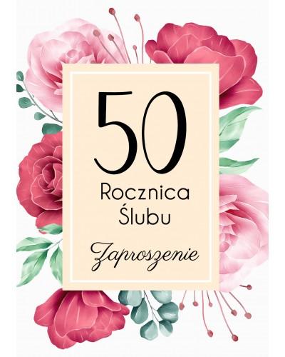 Zaproszenie na rocznicę ślubu - Różane Gody