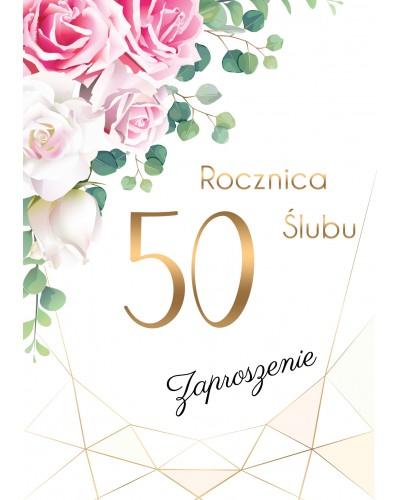 Zaproszenie na rocznicę ślubu - Kwiatowe Szaleństwo