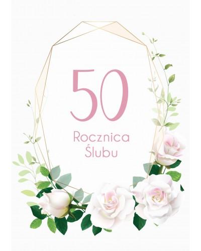 Zaproszenie na rocznicę ślubu - White Roses