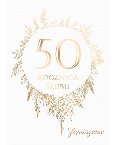 Zaproszenie na rocznicę ślubu - Złote Gody
