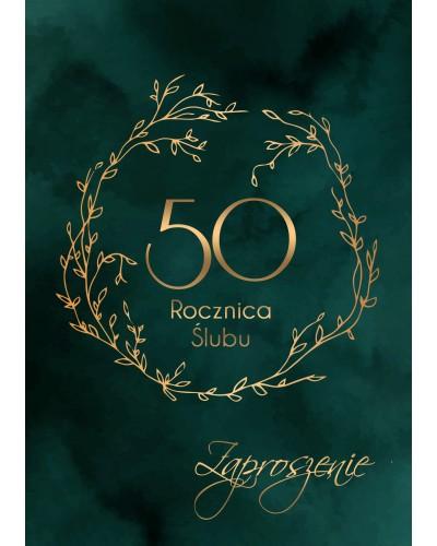 Zaproszenie na rocznicę ślubu - Royal Gold