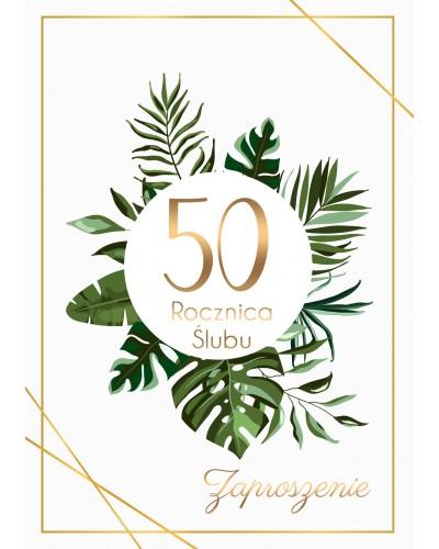Zaproszenie na rocznicę ślubu - Palmowe Gody