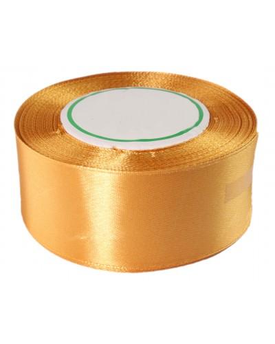Wstążka satynowa 38mm złota