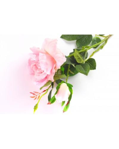 Róża długa różowa 80cm