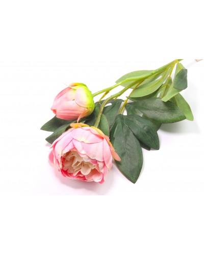 Peonia z pąkiem różowa 65cm