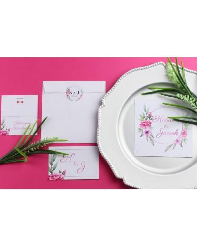 Zaproszenie Ślubne RSVP Lila Róż
