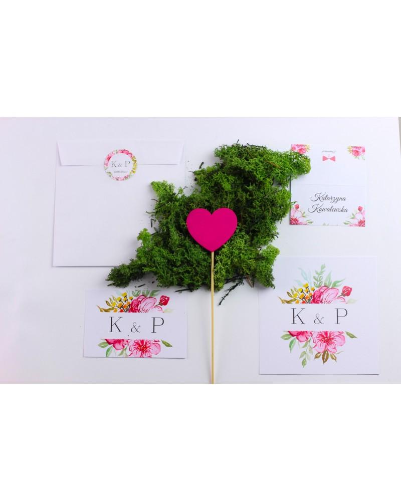 Zaproszenie Ślubne RSVP Kwiatowy Ogród