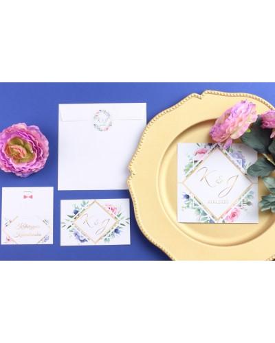 Zaproszenie Ślubne RSVP Wiosenne Kwiaty