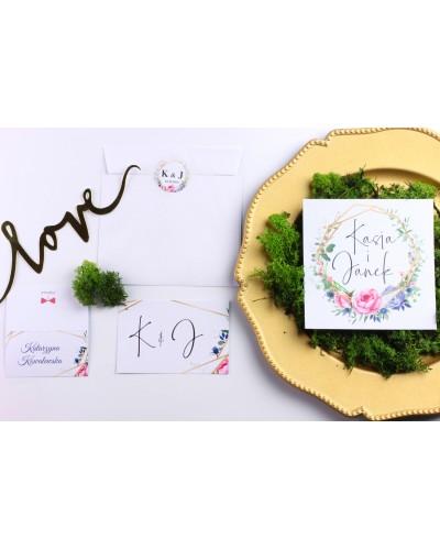 Zaproszenie Ślubne RSVP Geometric Garden