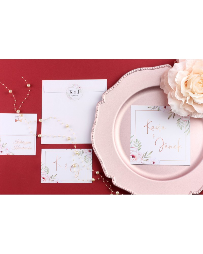 Zaproszenie Ślubne RSVP Vintage Rose