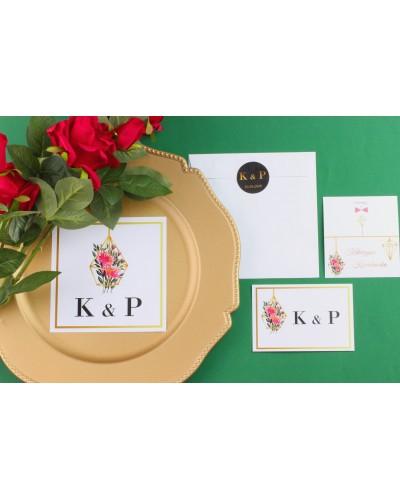 Zaproszenie Ślubne RSVP Złoty Ogród