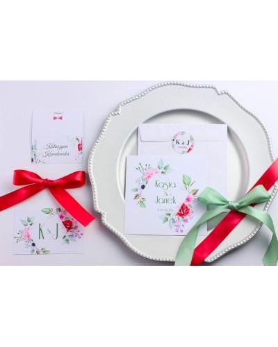 Zaproszenie Ślubne RSVP Flowers Dream