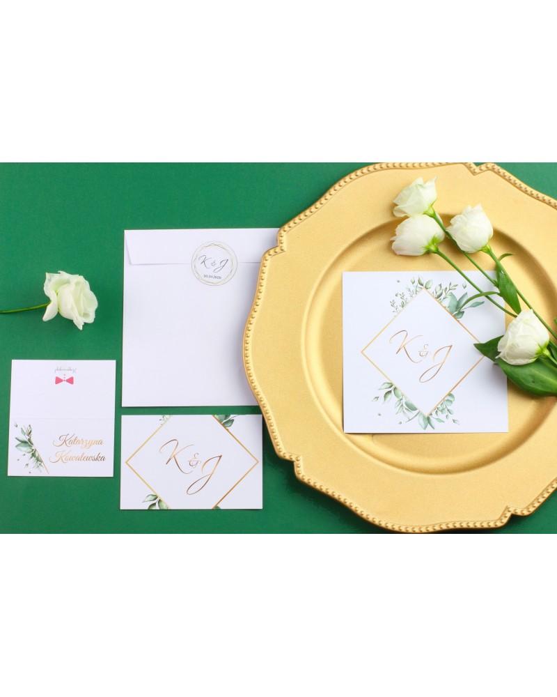 Zaproszenie Ślubne RSVP Eucalyptus